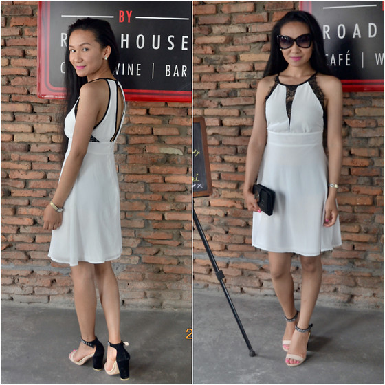 Deepa Sherpa - Boohoo Sophie Cut Away Shoulder Lace Insert Chiffon Dress - Elegance is the best attitude a lady can ever have
