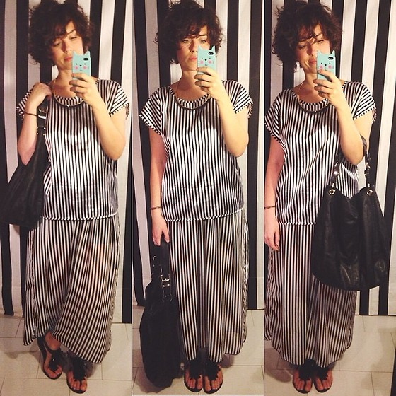 Pippi F. - American Apparel Top, American Apparel Midi Skirt, Zara Bag - When I end and you begin.