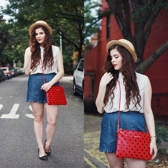 Noelle Downing - Salsit We <3 The Streets Bag, Pepaloves Denim Shorts - Summer love