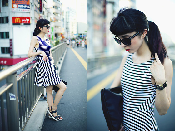 Samantha Mariko - H&M Dress, Aldo Sandals, Wego Clutch, Marc By Jacobs Sunglasses - Perfect stripes