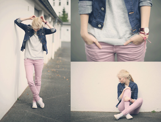 Joana ♡ - Zara Jeans, H&M Shirt, Levi's® Jacket, Converse Shoes, Daniel Wellington Watch - Like all the others