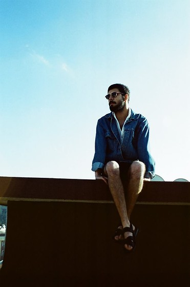 Selim Koroglu - Dior Homme Shirt, Mango Sandals, Wrangler Jacket - Chill on the roof top