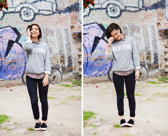 Yin Pang - H&M Sweatshirt, H&M Shirt, Monki Jeans, Asos Loafers - CHEEKY NYC
