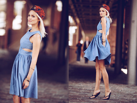 La Leonella - French Connection Uk Cutout Dress, New Era Cap - Everything happens for a reason ...