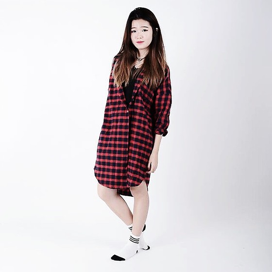 Jolene Cheng - Style Nanda Oversized Flannel - Too long