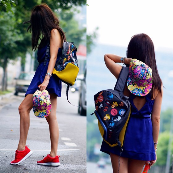 Ramona Moldovan - Accessorize Cap, Nike Sneakers, Diesel Watch, Andy Warhol By Pepe Jeans Backpack - Hit the road
