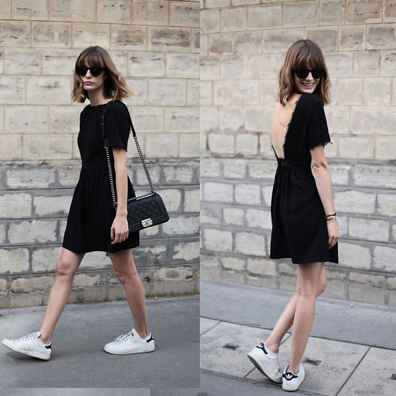Marie Gm instagram @intoyourcloset - Suncoo Dress, Adidas Sneakers - OH BOY
