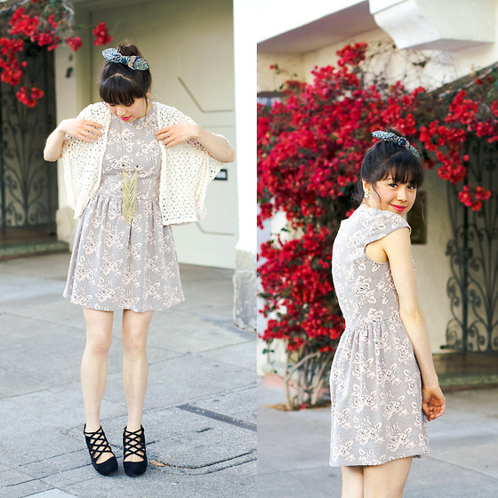 Micaela Hoo - H&M Bow, Crossroads Trading Co. Dress, Free People Shoes, Crossroads Trading Co. Necklace - Lace on Lace