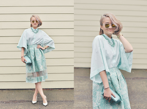 Elizabeth Jin - Asos Skirt - Mint All Over // Follow My Instagram: miss.strangename
