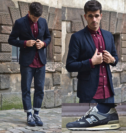Boris Cornilleau - Gap Oxford Shirt, Gap Wool Jacket, A.P.C. Raw Jeans, New Balance 577 Ng Sneakers - XXXXVI