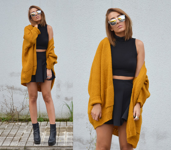 L A - Unif Hole Cardigan - I'M TOO OLD TO CUT THE MUSTARD
