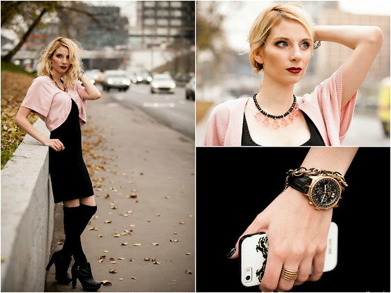 Lise Kapris - Ck Dress, Die Blonde Necklace, Cerruti Watches -  You Gonna Sleep Like A Baby Tonight ... (c)