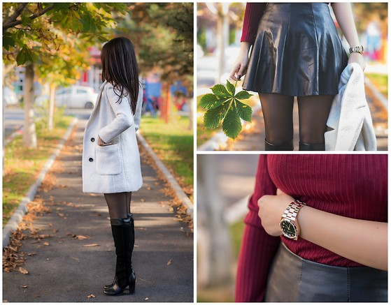 Andreea Manole - Sheinside White Coat, Choie Skirt, Choies Blouse - White coat