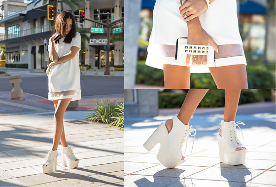 Indya S. - Nasty Gal Arielle Dress, Shoe Cult Rising Up Platforms - Clean