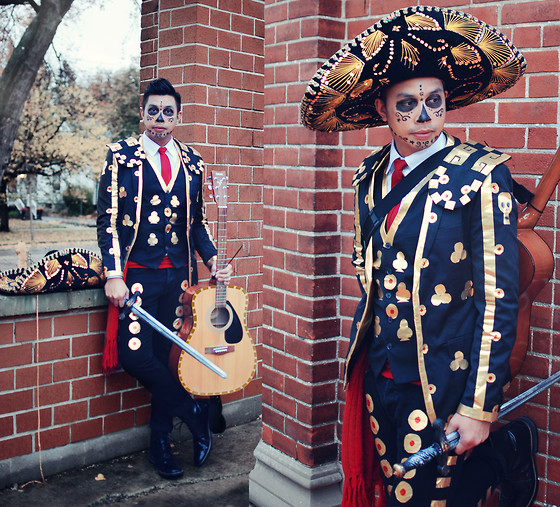 ALLEN M - Thrifted Mariachi Hat, Duct Tape Diy Suit, Zara Boots, H&M Pants (Diy) - MANOLO, THE BOOK OF LIFE // #BMSpookbook