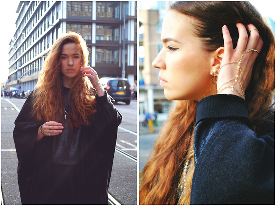 Braidsandeyeliner - Zara Sweater, Gina Tricot Necklace, Tally Weijl Earrings - Layers and Jewelry
