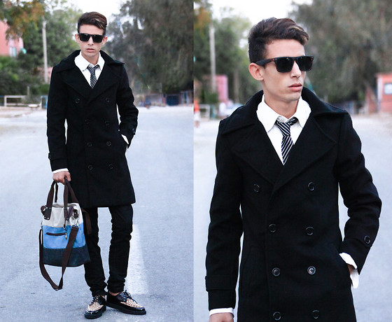 Ahmed Elhadî - Minitake Coat, Minitake Shoes, Minitake Bag, Levi's® Jeans - ONE DAPPER