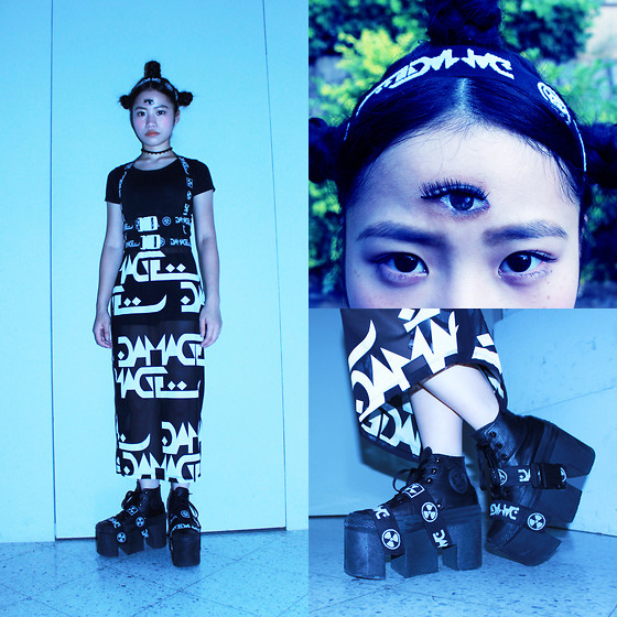 Peggy Chen - Damage Harness, Damage Tooth Shape Platform, Damage Skirt, Damage Head Band, Draw By Myself The Third Eye - Still not late for Halloween