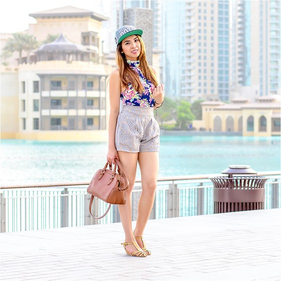 Angela Fernandez - Stradivarius Bag, Pilipinasootd Cap, Daintypink.Co Racer Back Top, Daintypink.Co Lacey Short, Carolina Boix Shoes - Be Inspired