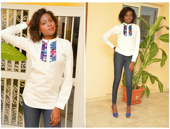 Senegalese Blogger - Zara Blue Shoes - Boyfriend Shirt
