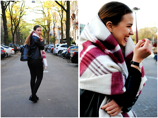 Braidsandeyeliner - Zara Sweater, Zara Pants, Zara Backpack, Daniel Wellington Watch - Sophisticated Leather