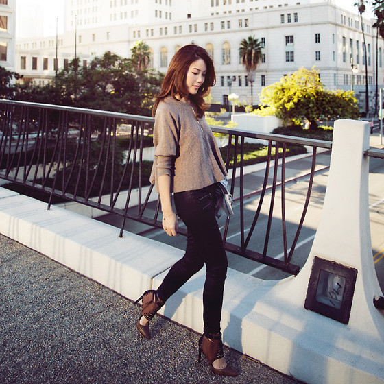Jenny Tsang - D.Ra Sweater, Paige Jeans, Dolce Vita Booties - Timber