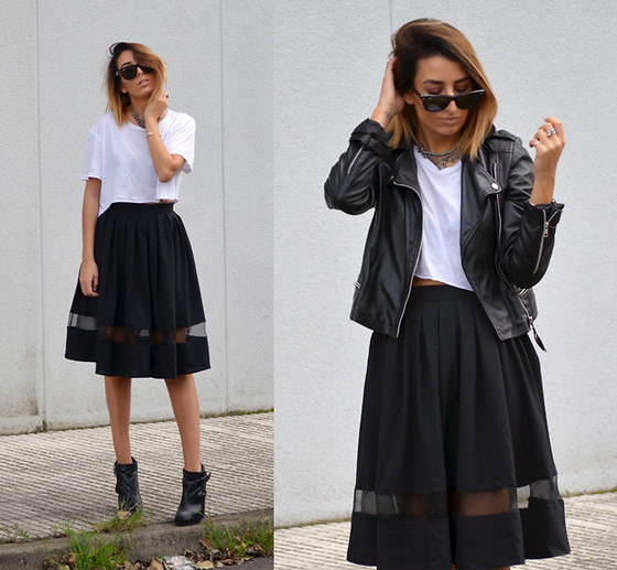 L A - Romwe Midi Skirt - CAN'T YOU SEE THERE'S FEAR ON MY FACE