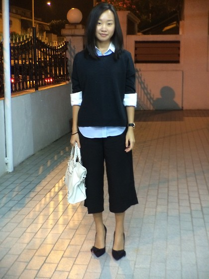 Yanice C - Acne Studios Sweater, Altuzurra Shirt, Mango Culottes, Isabel Marant Heel, Balenciaga Handbag - IT'S NOT WEEKEND YET