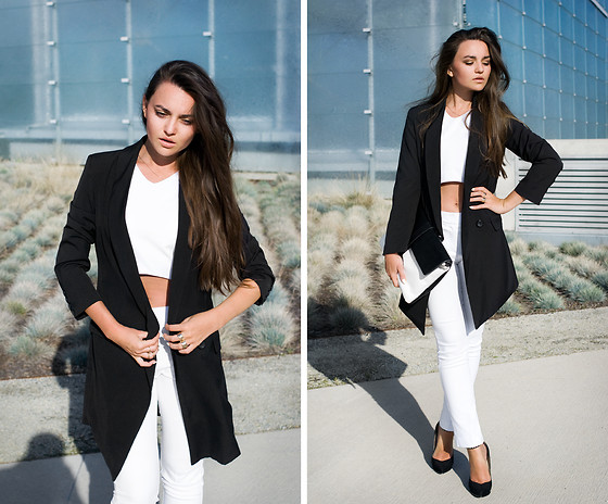 Mirella Szymoniak - Sheinside Blazer, Blackfive Top, Blackfive Bag - BW