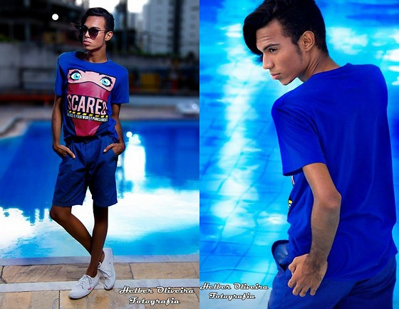 Yago Rodrigues - Riachuelo T Shirt, Rainha Sapatenis - • LOOK OF THE DAY- ALL BLUE!