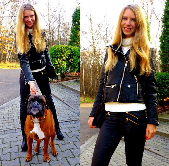 Ania Zarzycka - Leather Jacket - Positive thinking will let you do everything better