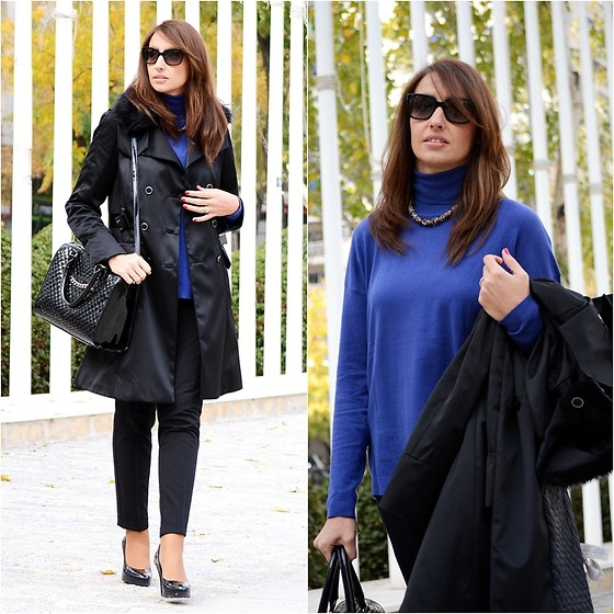 Silvia Rodriguez - Mango Sweater, Mango Trench, Mango Bag, Clavin Klein Shoes, Prada Sunglasses - Fur trench