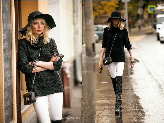 Lise Kapris - Fendi Bag, Baldinini Boots, Calvin Klein Sweater, Marc By Jacobs Sun Glasses - Spy Addiction
