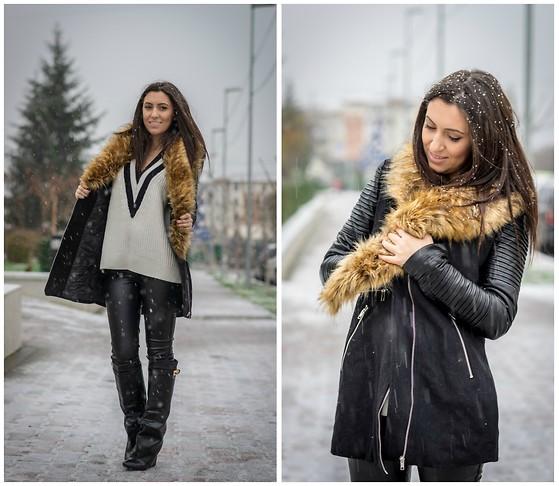 Maria De La Cruz - Haute & Rebellious White Leather Moto