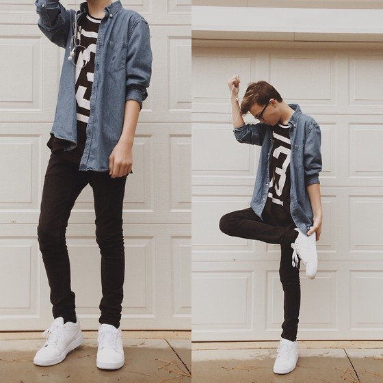 Dylan Silver Nike Air Force 1, H&M Mesh Athletic Tee, H&M