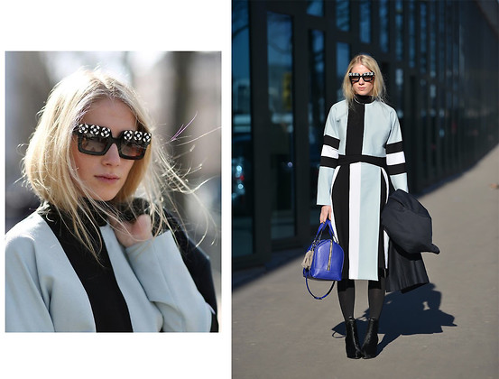Laura Tonder - Prada Sunglases, My Design Suit, Zara Bag - My Samurai design