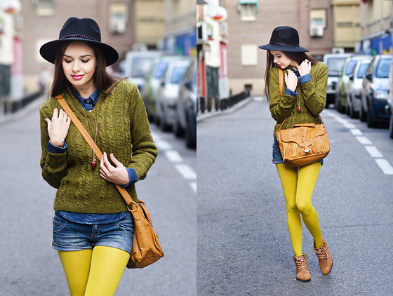 Mariya Marinova - H&M Shirt - Bright Yellow and Denim.