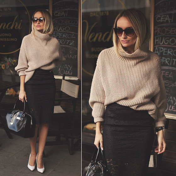 Silvia P. - Guess? Knit, Guess? Skirt, Dkny Bag - Oversized