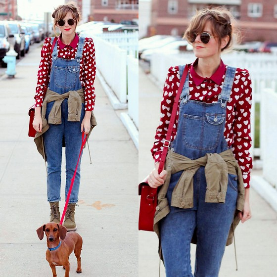 Steffy Degreff -  - Overalls and hearts!