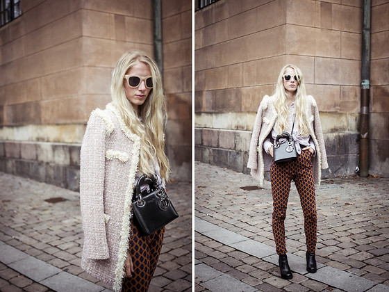 Laura Tonder - Christian Dior Bag, Vintage Jacket - THE BOUCLE JACKET