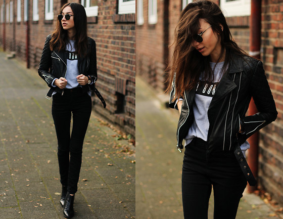 Bea G - Viparo Leather Jacket, Sweatshirt, Jeans, Shoes - GIVEAWAY| Win a Leather Jacket