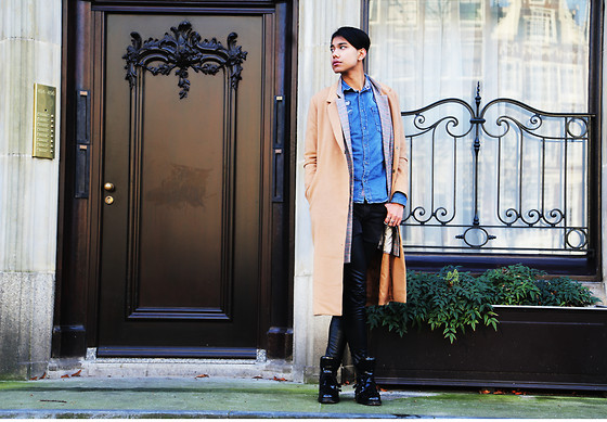 John Setrodipo - Forever 21 Camel Coat, H&M Leather/Jeans, Zara Boots, H&M Denim Shirt - THE CAMEL COAT