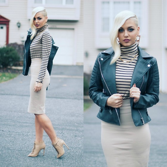 Samii Ryan - Forever 21 Top, Forever 21 Jacket, Forever 21 Skirt, By Samii Ryan Jewelry, Cicihot Shoes - Gone Camel