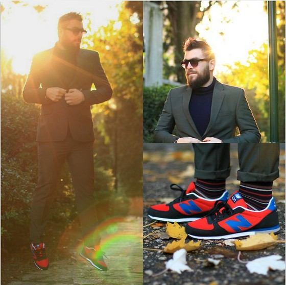 Gabriel - New Balance Sneakers, Calzedonia Socks, Topman Turtle Neck Sweater - Christmas Suit