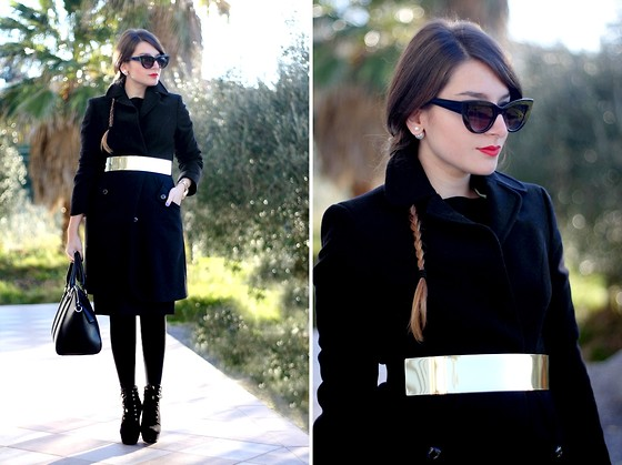 M+C . - Zara Ankle Boots, H&M Metal Belt, Christian Dior Earrings - Vogue Army