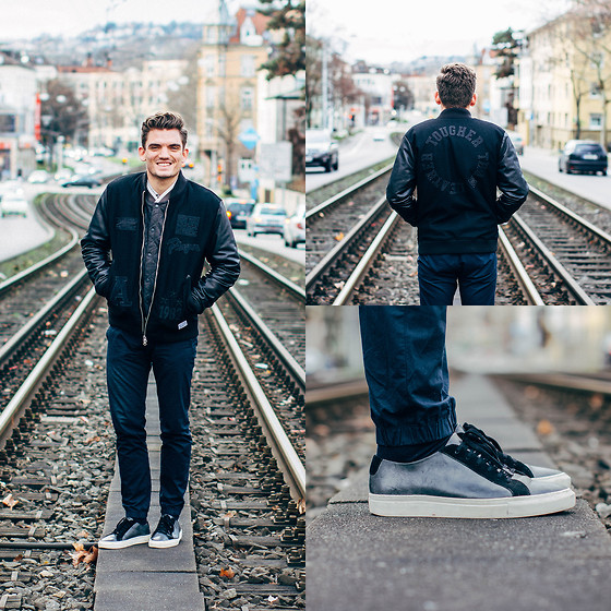 Florian Roser - Adidas Jacket, Asos Sweater, Cos Pants, All Saints Sneakers - Tougher than Leather