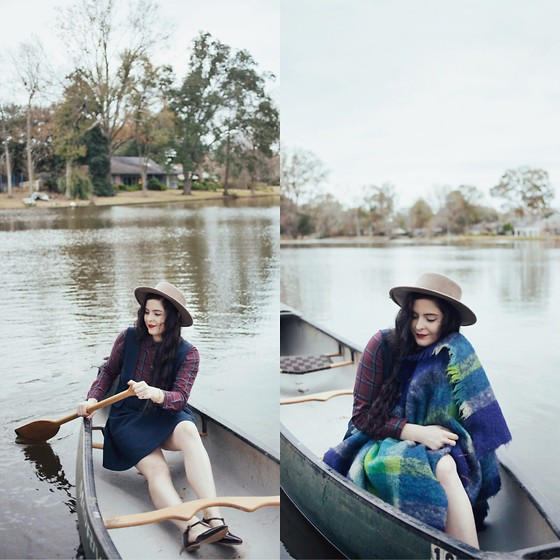 Noelle Downing - Miss Patina Plaid Button Down, Miss Patina Pinafore Dress - Canoeing Adventures