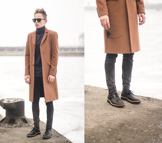 Daniil Shamatrin - Coat, Turtleneck Sweatshirt, Shoes -  Wu Lyf – Such A Sad Puppy Dog
