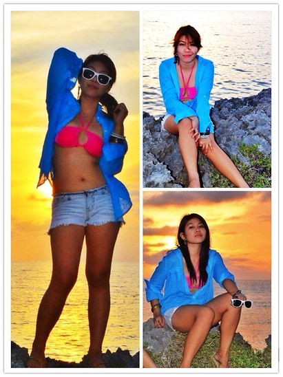 PAPU DOMINGO -  - BEACH + SUNSET + SHADES IS <3