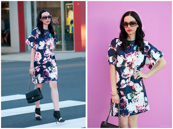 Lisa Valerie Morgan - Finders Keepers The Label Dress, Chanel Bag, L.A.M.B. Booties, Gucci Sunglasses - Finders Keepers